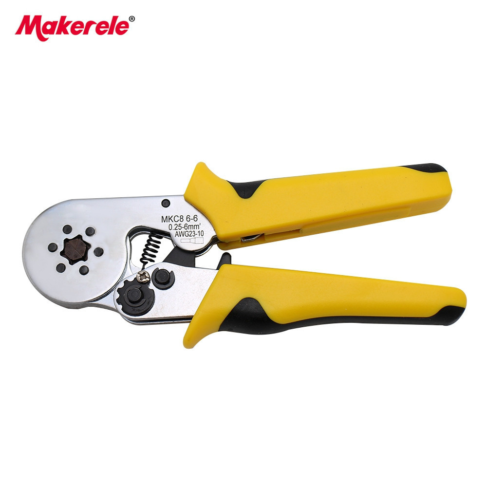 Ferrule Ratchet Wire Terminal Crimper Stripper Pliers D AWG23-10 0.25-6mm2