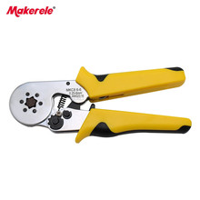 Crimping tool HMC8 6-6 mini-type ratcheting crimper self-adjustable 0.25-6mm2 lug terminal crimper for wire-end ferrules стоимость