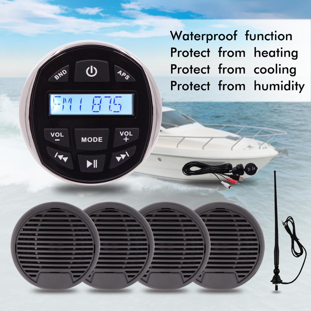 Boat Stereo Bluetooth Radio Marine audio system for Motorcycle ATV UTV Spa Yauht Boat car 3