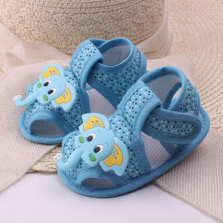 0-1 Year Old New Cartoon Elephant Baby Shoe Cloth Soft Bottom Toddler Shoes Baby Children's Shoes