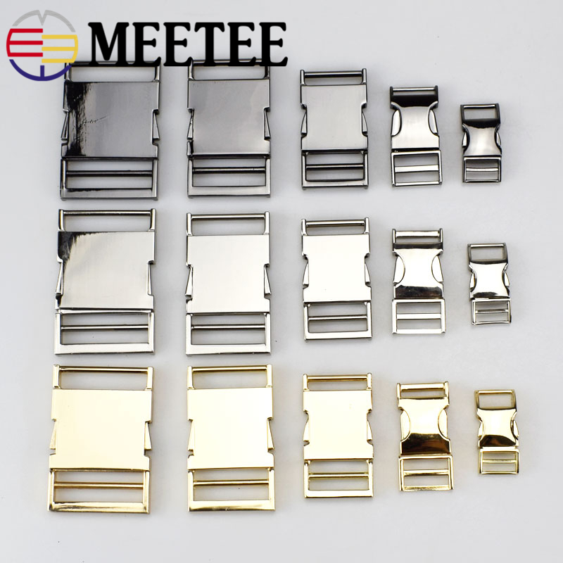 4pcs Meetee Metal Side Release Buckle 14/19/25/32 / 38mm pentru animale de companie Collar Backpack Bag Geantă Cataramă DIY Paracord brățară Hardware