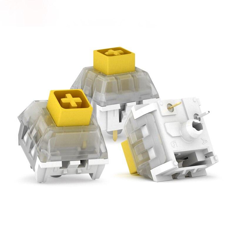 70 pièces Pack Kailh commutateur de clavier jaune foncé lourd pour personnalisation du clavier bricolage commutateur Kailh