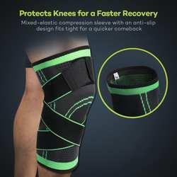 Защитные наколенники компрессионная посадка поддержка Улучшенная циркуляция компрессионная одежда хорошее качество Спорт Бег Баскетбол