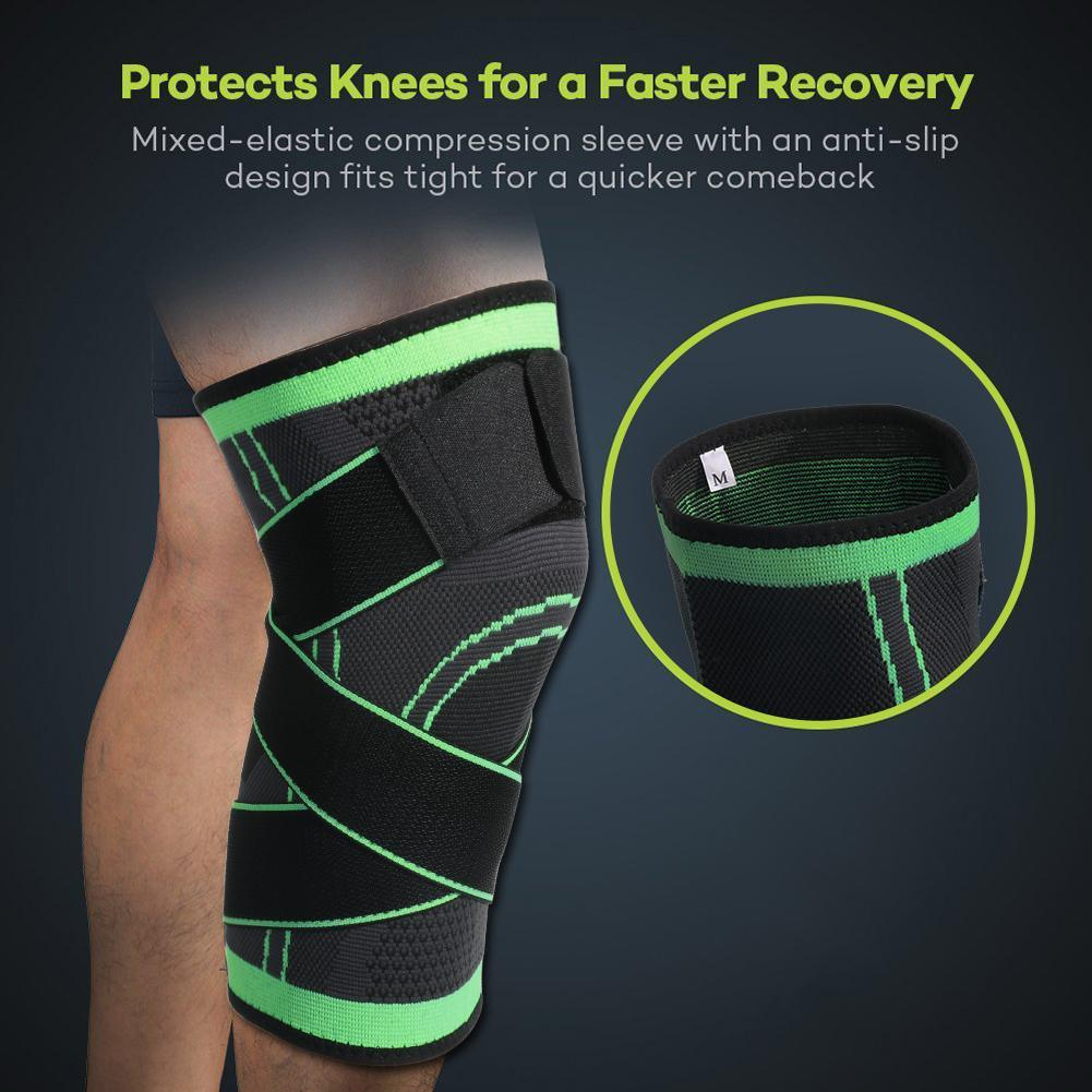 Kneepad Protective Compression Fit Support Improved Circulation Compression Wear Good Quality Sport Running Basketball Prevents