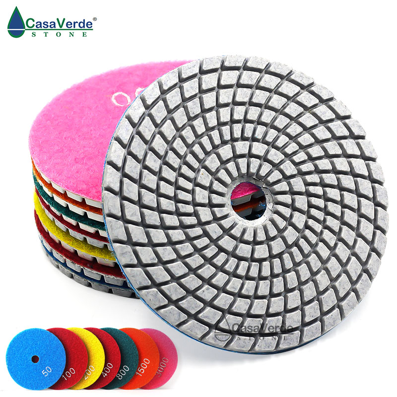1 Piece 3.0mm Thickness 4 Inch 100mm Wet Diamond Polishing Pads For Stone White Bond No Color Fade Sanding Disc Polishing Disc