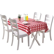 1 pack of 5 pieces Disposable Tablecloth Thickening Plastic Rectangle Round Table Household Children Birthday Party Picnic