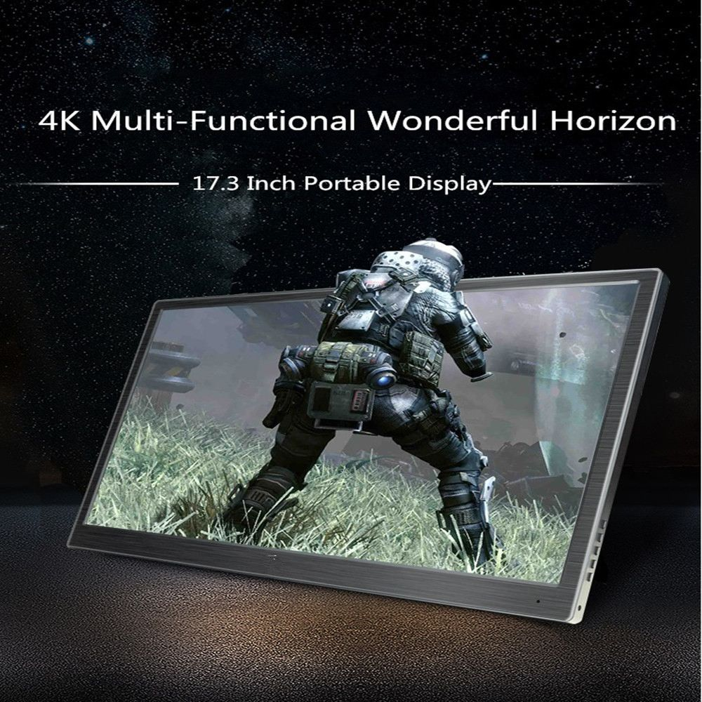 18.4 pouces 4 K moniteur de jeu Portable pour PS4 PS4 PRO pour XBOX NS MacOS HD 1920*1080 IPS Type C écran avec haut-parleur HDR