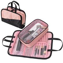 Multifunctional 2 in 1 Portable Makeup Bag Handbag Women Fem