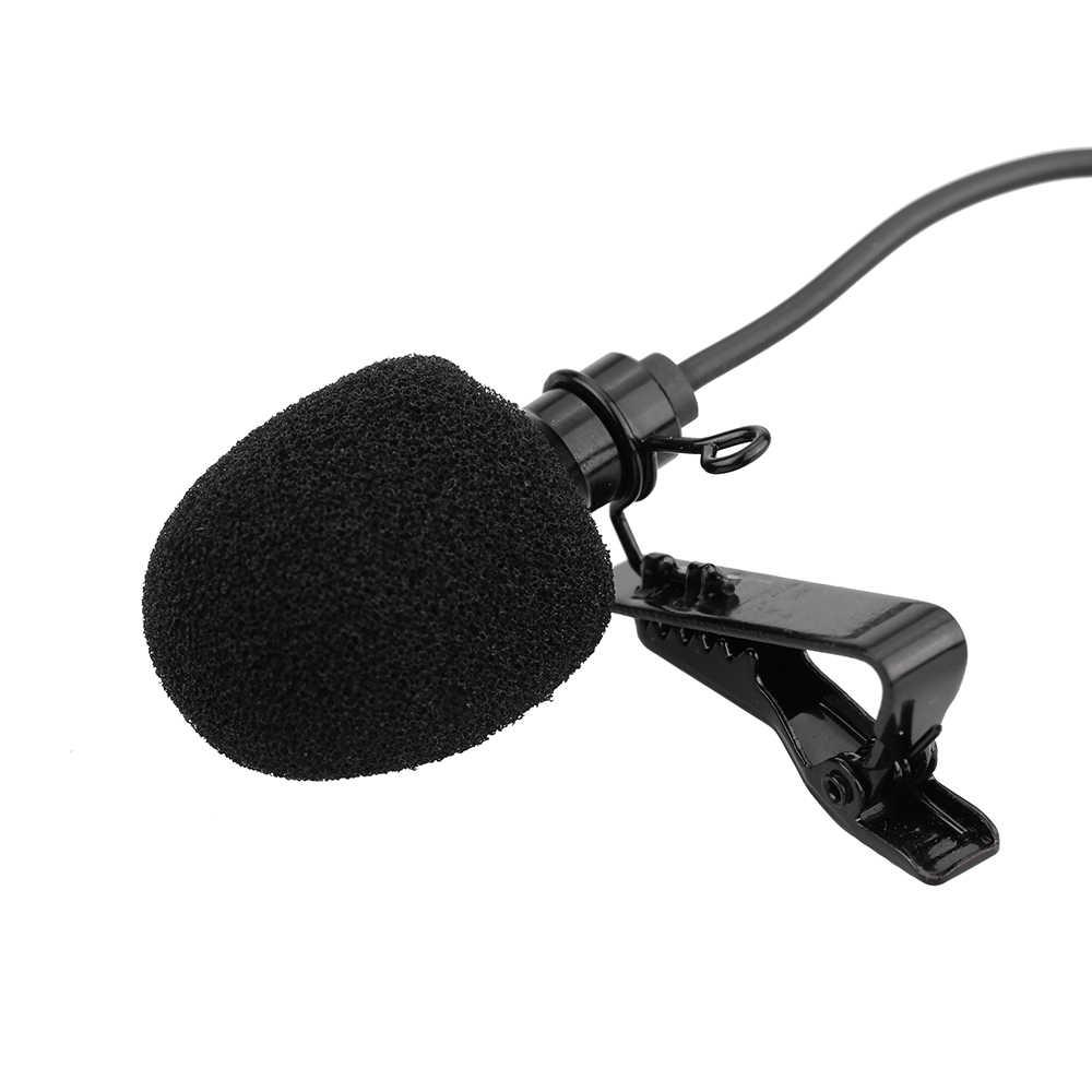 Мини портативный зажим на лацкане петличный Hands-free 3,5 мм Внешний винтовой замок микрофон для компьютера ПК ноутбука