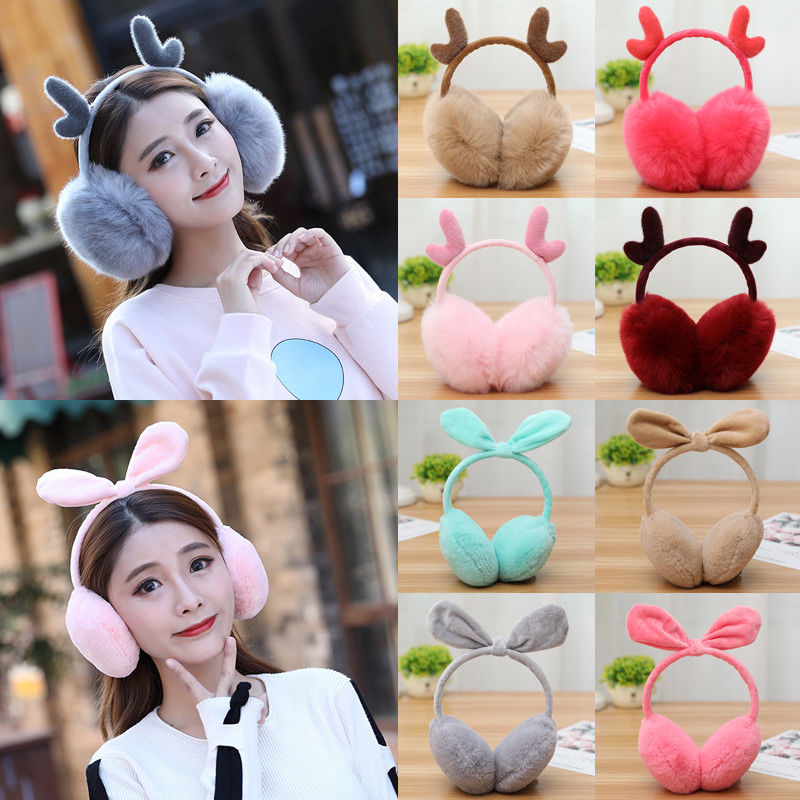 2019 Fashion Comfortable Women Winter Plush Ear Pad Back Wear Earmuffs Headband Warmers Gift Healthy Hot Sale