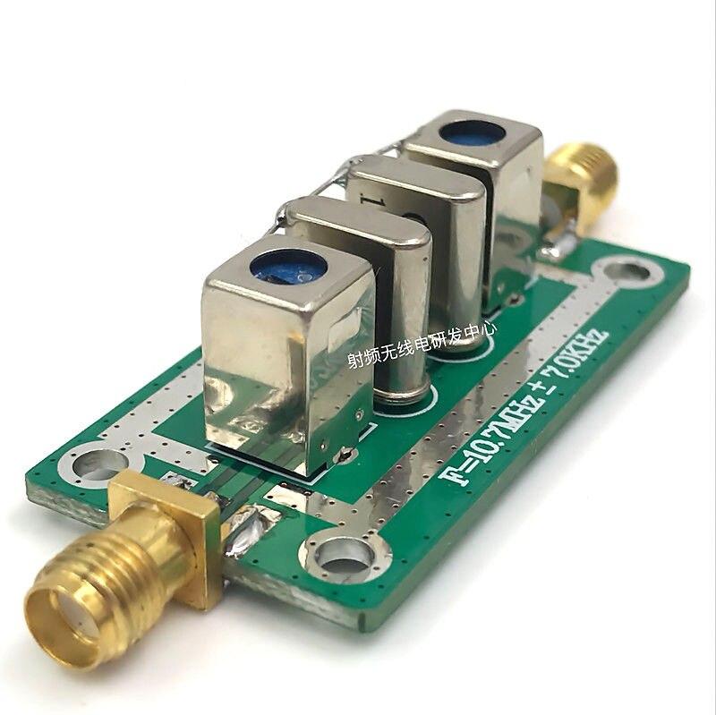 DYKB Crystal Filter AM Filter 10 7MHz Bandpass Filter Narrowband SMA-KE For  Oscilloscope Ham Radio Amplifiers