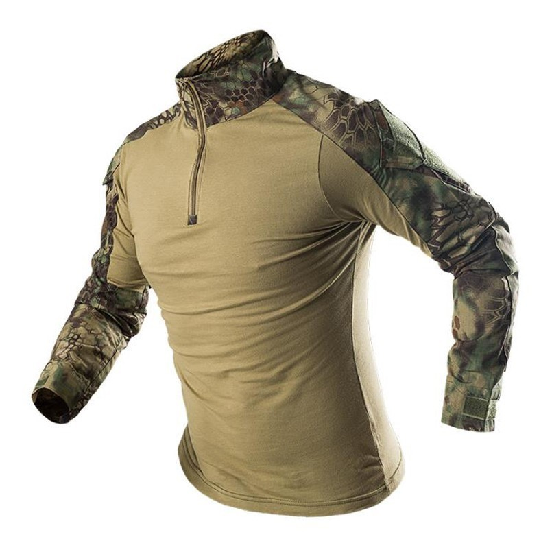 2019 Newest Man Tactical Military Combat Camouflage Top Jersey Army Long Sleeve Shirts Men's Pro Breathable High Quality Tops