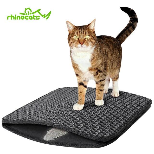 097ed865f Cat Litter Mat Double-Layer Honeycomb Cat Litter Trapper Mat Non-slip  Waterproof Bottom EVA Mat For Small Large Cats Kitten Beds