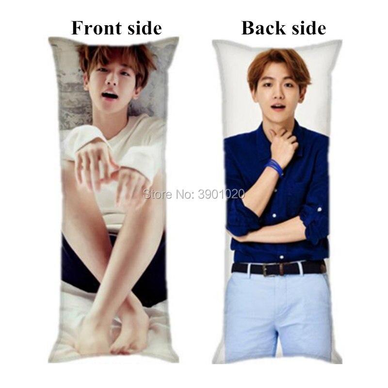 exo baek hyun hugging long pillow case