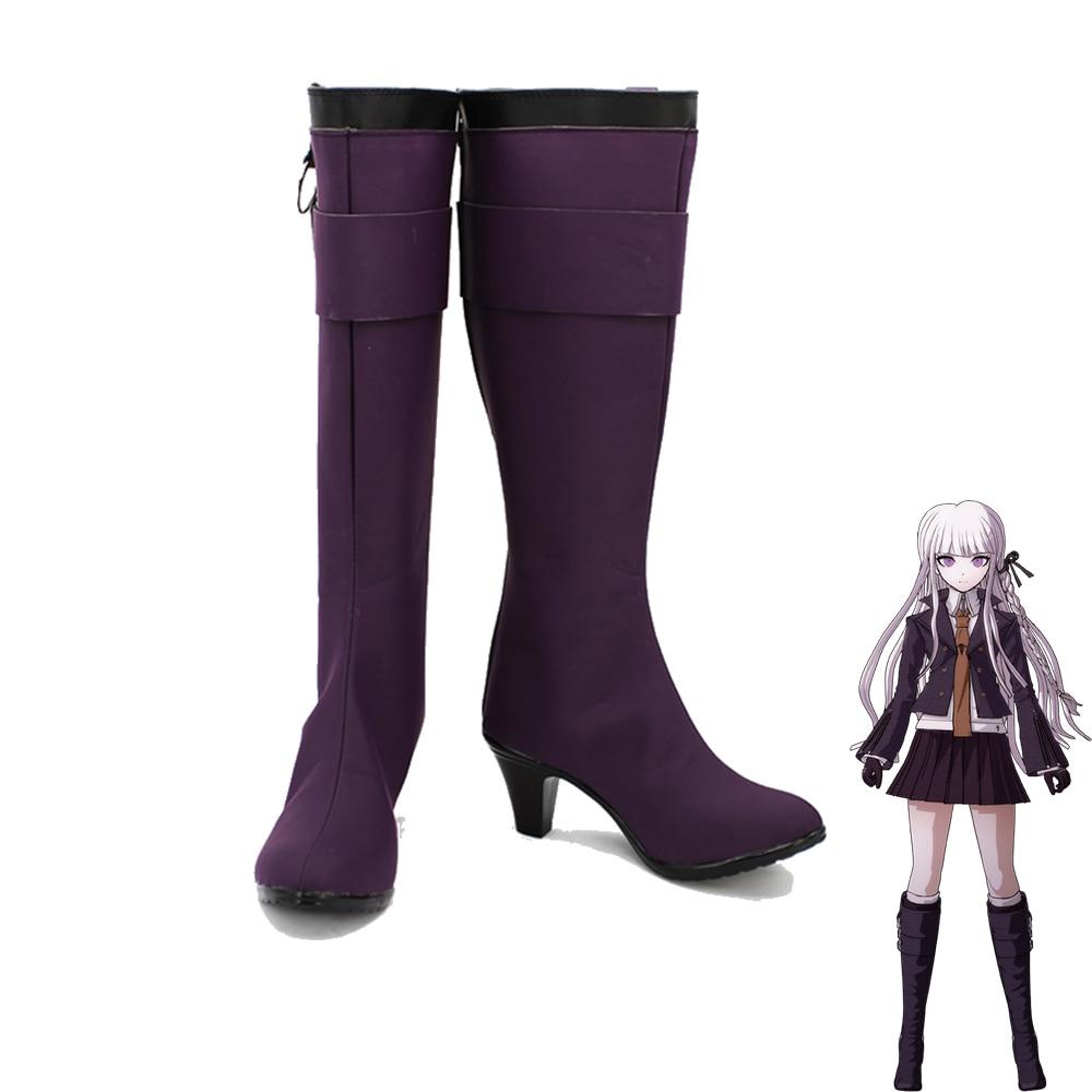 DanganRonpa Kyoko Kirigiri Women Cosplay Shoes Boots Customized Size
