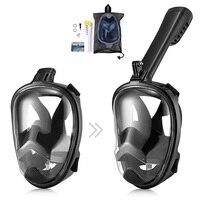 Anti Fog Full Face Mask Diving Mask Detachable Dry Snorkeling Sports Camera Gopro Scuba Diving Training Mask Diving Equipment