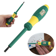 220V Voltage Induced Electrical Tester Pen Screwdriver With Voltage Testing Power Detector Probe Metal Head Measuring Tool mastech ms8211 1 8 voltage resistance testing pen green 2 x aaa
