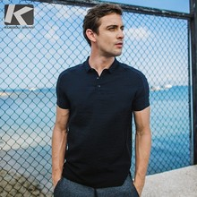 KUEGOU New Summer Mens Casual Polo Shirts Patchwork Black Color Brand Clothing Man's Short Sleeve Clothes Male Slim Tops 5738