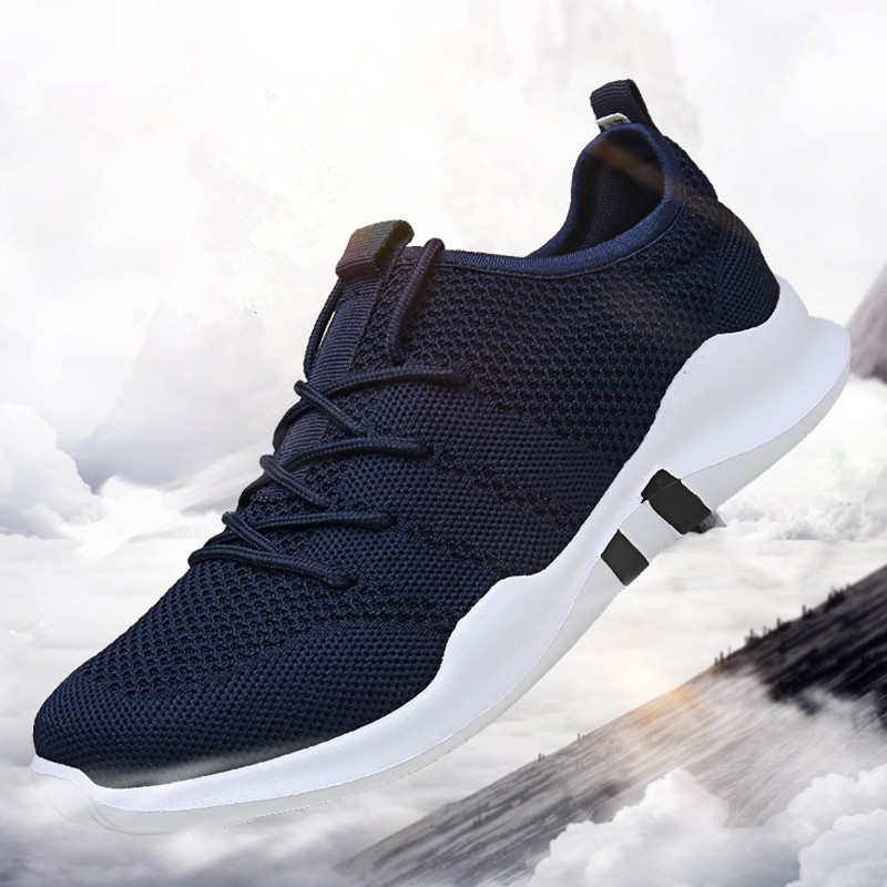 2019 White shoes men Popular Fashion Comfortable Sneakers Hombre Casual Shoes Blue high quality Breathable Zapatillas