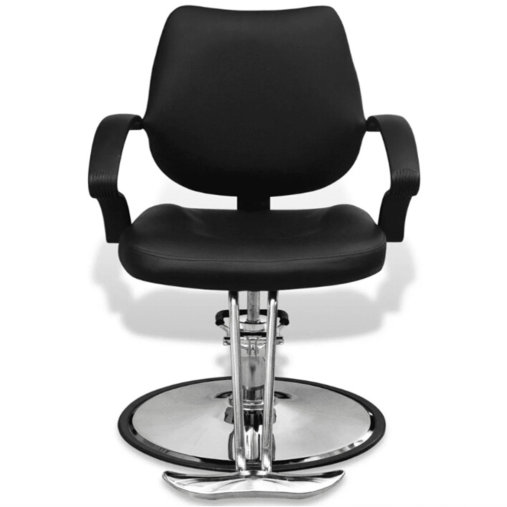 VidaXL Barber Chair Imitation Leather Black Adjustable Synthetic Leather Cover Lift Chair For Beauty Hair Salons Spas