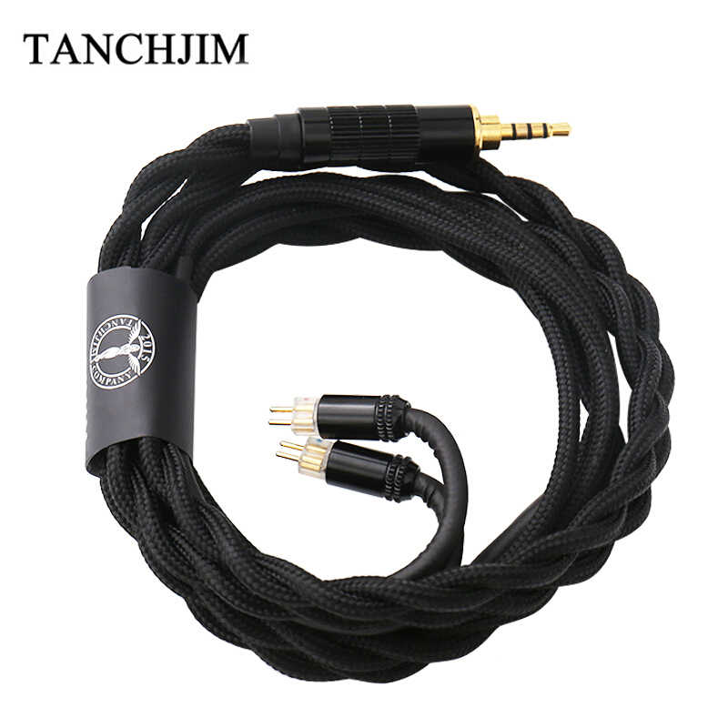 TANCHJIM Oxygen Earphone Upgrade Line 0.78mm Pin 2.5mm/3.5mm/4.4mm 5N Single Crystal Copper Upgrade Cable