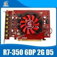 100% New Veineda R7 350 2GB GDDR5 6DP Multiscreen Display Card monitors for ATI