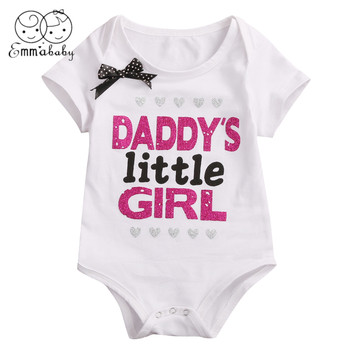 2019 Brand New Newborn  Baby Daddy Mommy Girls Cotton Cartoon Romper Jumpsuit Clothes Outfit girl shoes in sri lanka