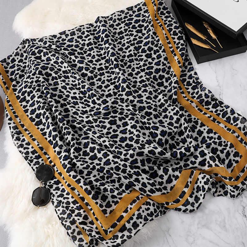 Корейский стиль Весна и осень хлопок Леопардовый шарф женский 2019 европейский и американский полосатый солнцезащитный модный шарф двойного назначения большой