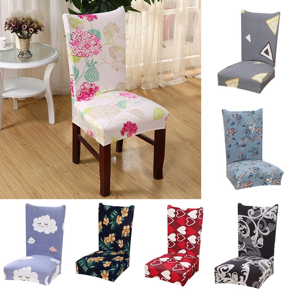 Incredible Us 6 31 40 Off Flower Heart Cloud Triangle Elastic Seat Chair Cover Restaurant Dining Decor Hot In Chair Cover From Home Garden On Aliexpress Machost Co Dining Chair Design Ideas Machostcouk