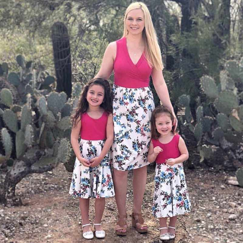 222a90bb7057d2 Matching Mother And Daughter Clothes Floral Mom And Daughter Dress Mini  Mommy And Me Dresses Family