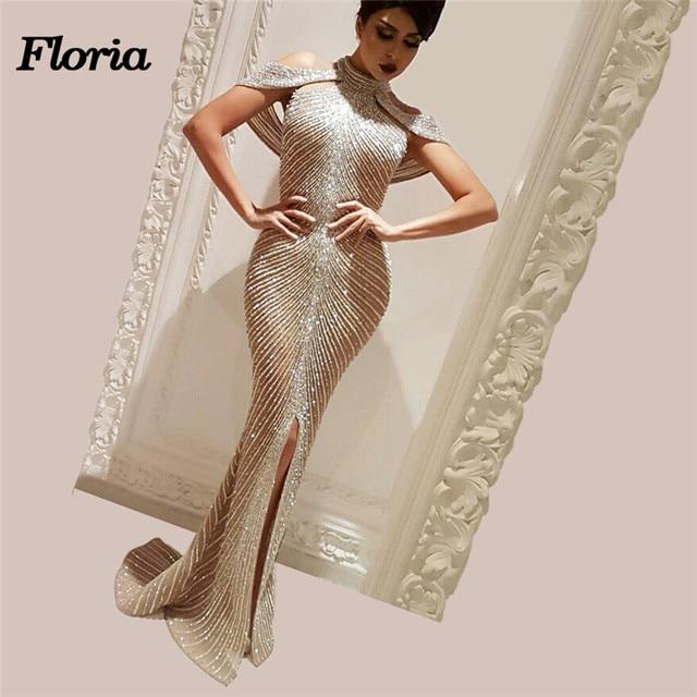 African Couture Sparkly BeadingEvening Dress Robe de soiree Dubai Turkish  Aibye Crystal Rhineston Prom Formal Gowns Abendkleider b0ba2e2690e1