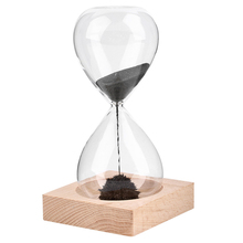 1Pcs Hand-blown Timer clock Magnet Magnetic Hourglass crafts sand hourglass timer Gift Home Decor