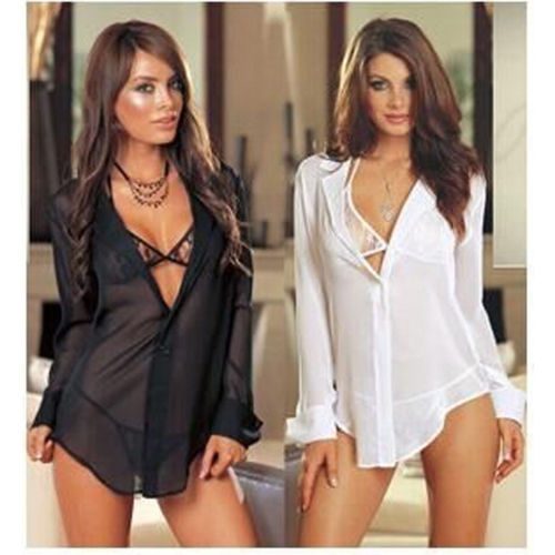 Lingerie Set Women Nightwear Underwear Bra Babydoll Blouse 3PCS