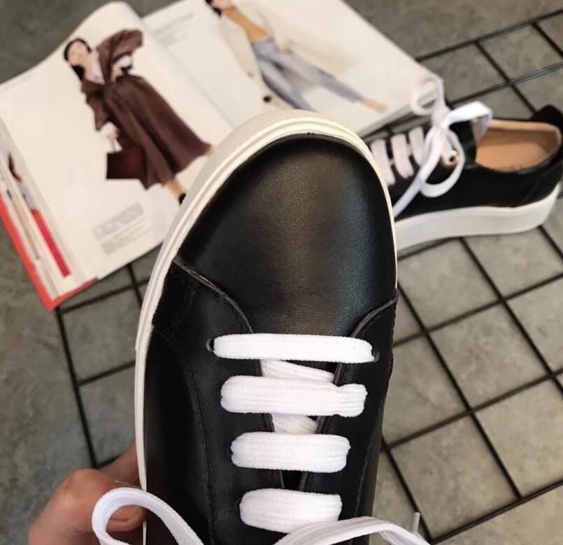Automne Mode De 2018 Lace Nouveau 1 Noir Creepers Femme Dames 2 Designer Printemps Blanc Up Appartements Chaussures xUOgqwY4