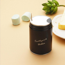 Automatic Cola Toothpick Holder Container Household Table Round ResinToothpick Storage Box Dispenser
