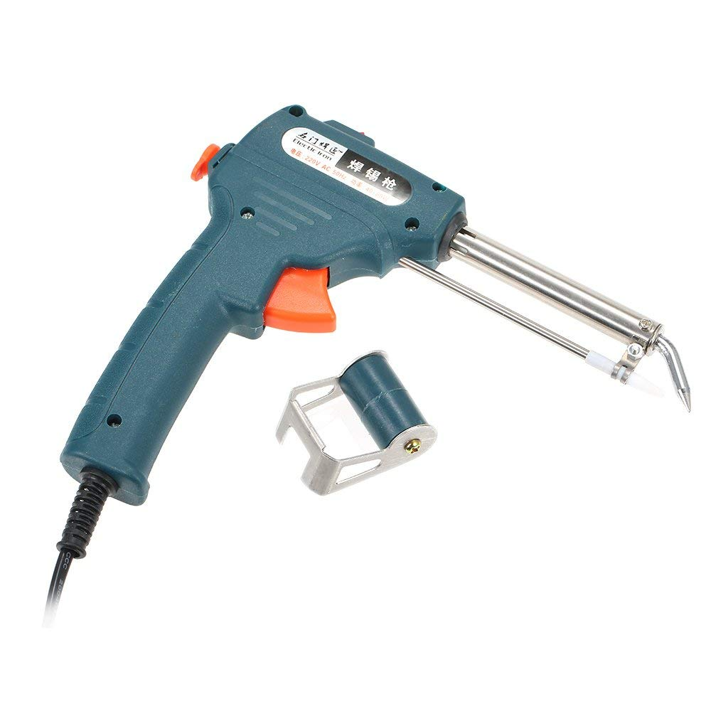 HLZS-US Plug 110V 60W Auto Welding Automatic Feed Soldering Gun Electric Temperature Tool Adjustable Solder Tool Kit Fast Heat