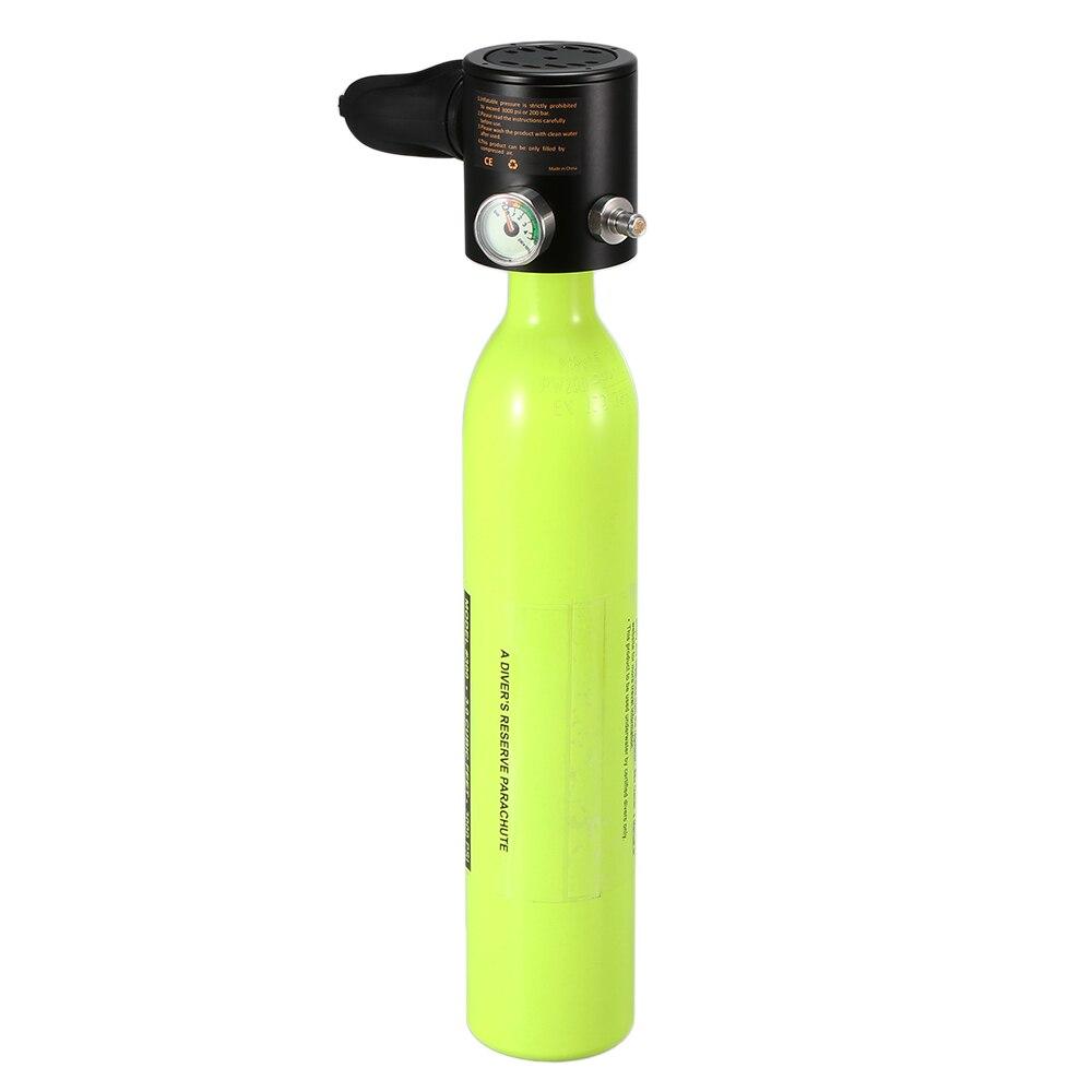 0.5L bouteille d'oxygène de plongée réservoir d'air de plongée régulateur de plongée respirateur de plongée avec équipement respiratoire de plongée en apnée