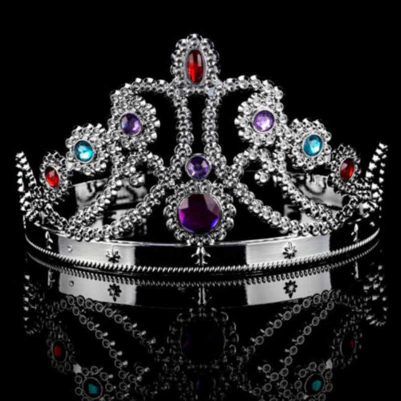 Braut Prinzessin Strass Perle Kristall Haar Tiara Hochzeit Krone Schleier Stirnband Hochzeit Zubehör