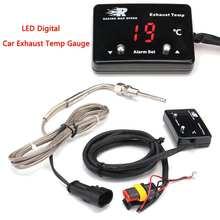 Автомобильная температура выхлопа датчик с датчиком мини светодиодный цифровой дисплей DC12V пластик+ металл температура выхлопа erature газ EGT EXT датчик температуры