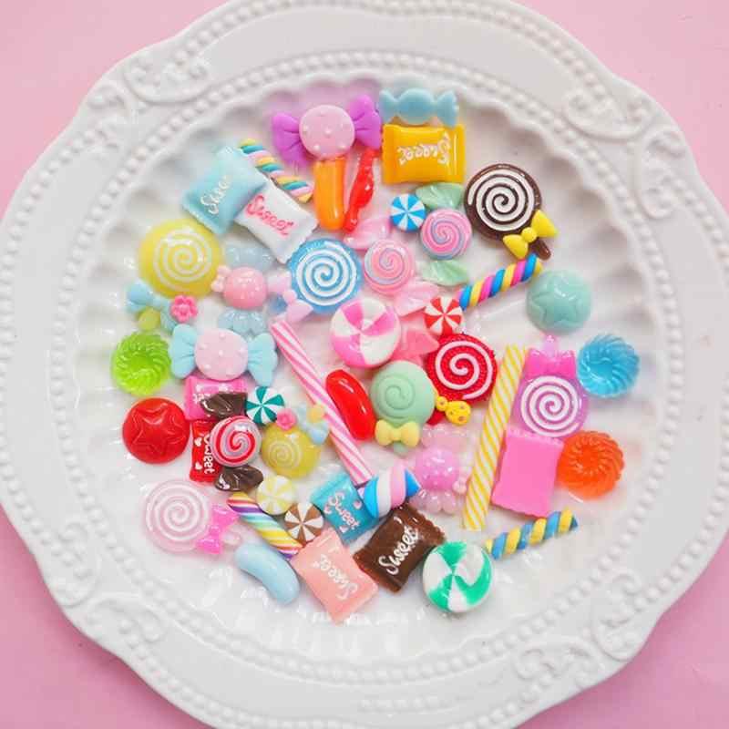 Слизь подвески смешанные смолы конфеты бусины слизи сладости бусины поставки DIY коллаж ремесла детей ручной работы творческие игрушки