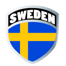 Sweden Flag Set Shield Sticker Badge Vinyl Helmet Window Personality Accessories Car