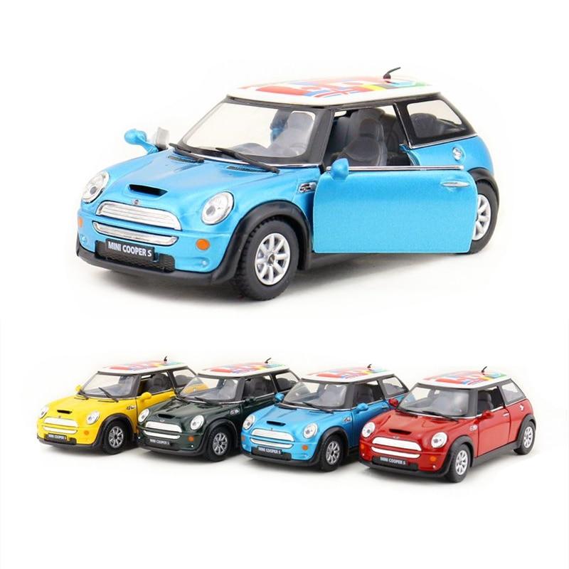 KINSMART Diecast Metal Model/1:28 Scale/Mini Cooper S International Toy/Pull Back Car/for Children's Gift/for Collection