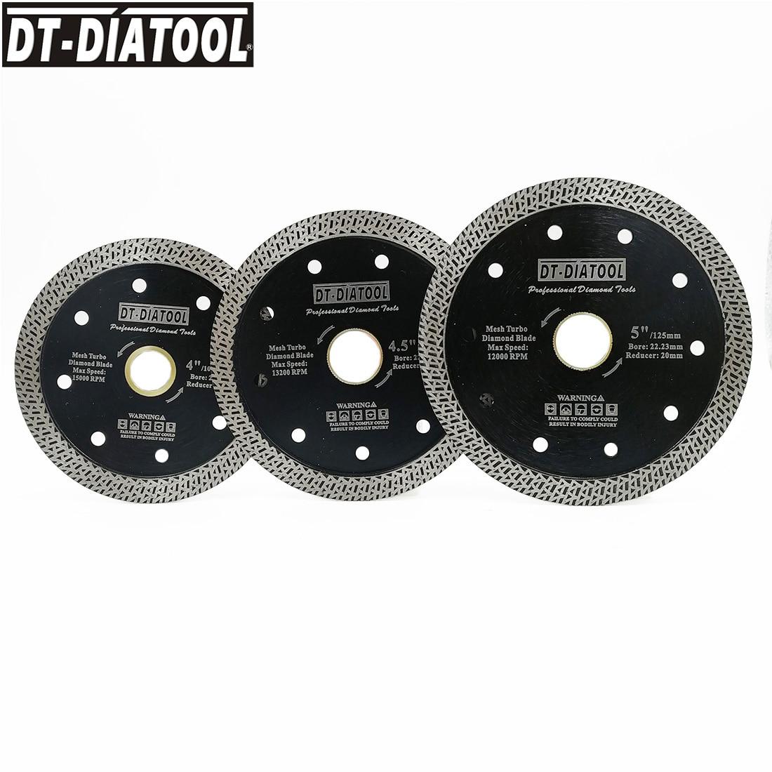 2units//pk Dia 5inch//125mm Hot pressed X Super thin Mesh Turbo Diamond Saw blade
