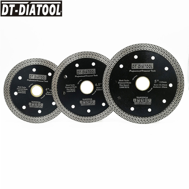 "1unit Diameter 4"" 4.5"" 5"" Hot pressed Diamond Disc Mesh Turbo Wheel rim Segment Cutting Saw blade for Hard material granite tile"