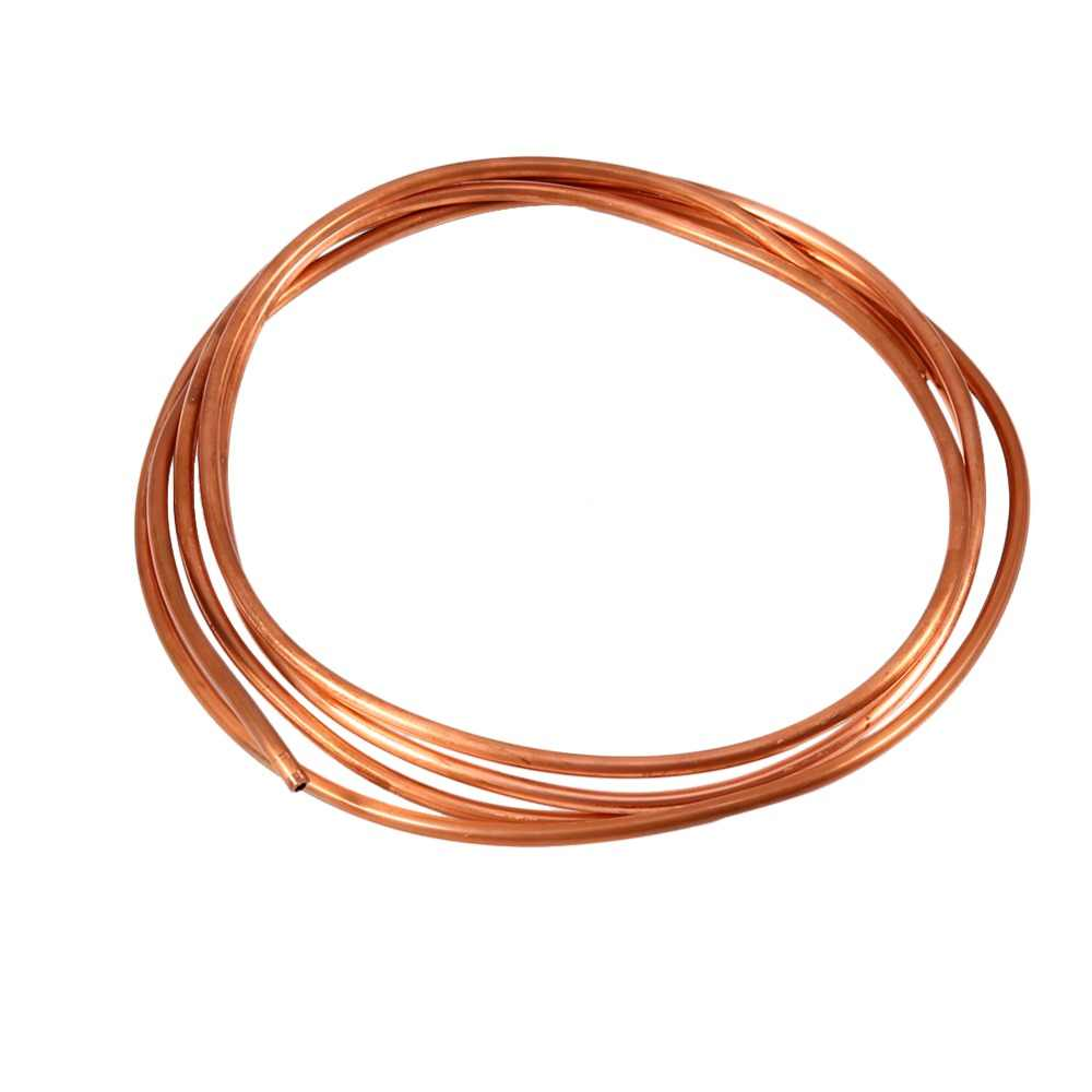 2M Soft Copper Tube Pipe OD 4mm x ID 3mm for Refrigeration Plumbing Tool