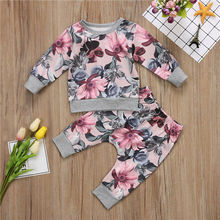 PUDCOCO Newborn Baby Girls Clothes Coat T-shirt Tops+Floral