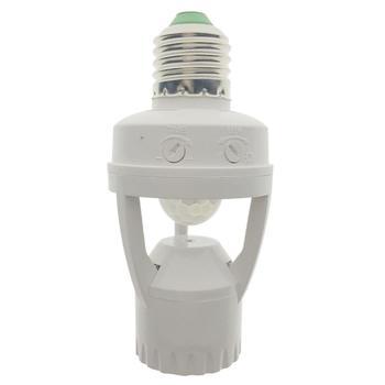 switch e27 standard ac 110v 240v led lamp bulb base infrared ir sensor automatic wall light holder socket pir motion detector AC 110-220V 360 Degrees Pir Induction Motion Sensor IR Infrared Human E27 Plug Socket Switch Base Led Bulb Lamp Holder