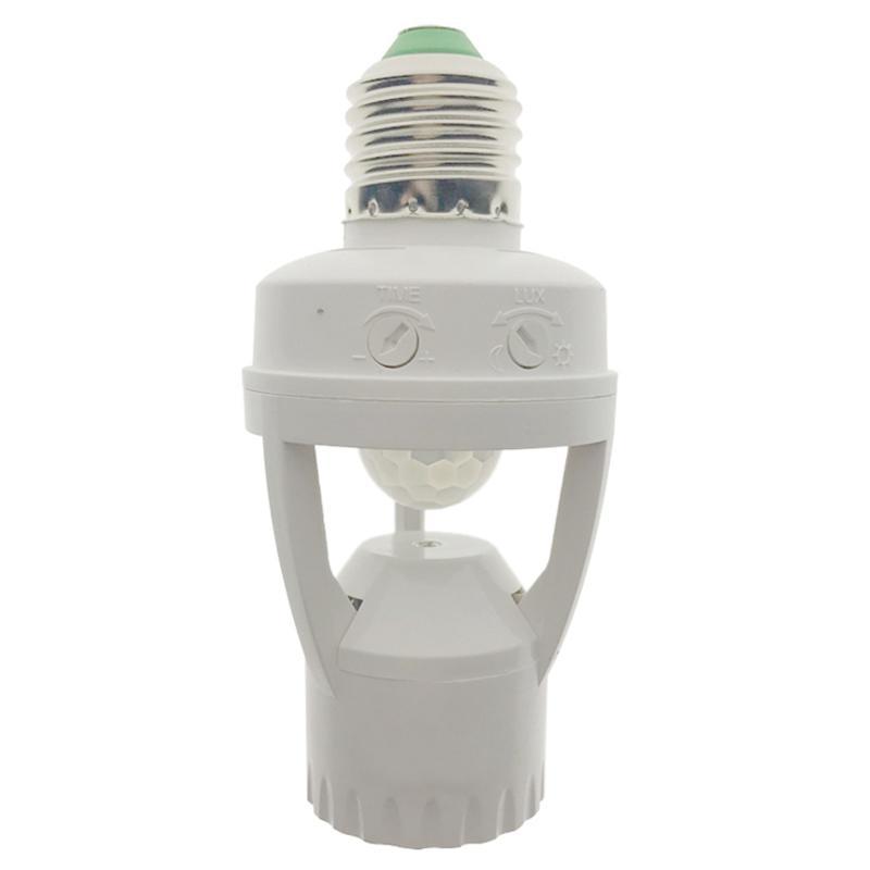 AC 110-220V 360 Grad Pir Induktions Motion Sensor IR Infrarot Menschlichen E27 Steckdose Schalter Basis Led birne Lampe Halter
