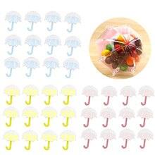 Behogar 12 шт прекрасный прозрачный зонтик Стиль коробки для конфет шоколада подарок на свадьбу коробка День рождения свадебные принадлежности