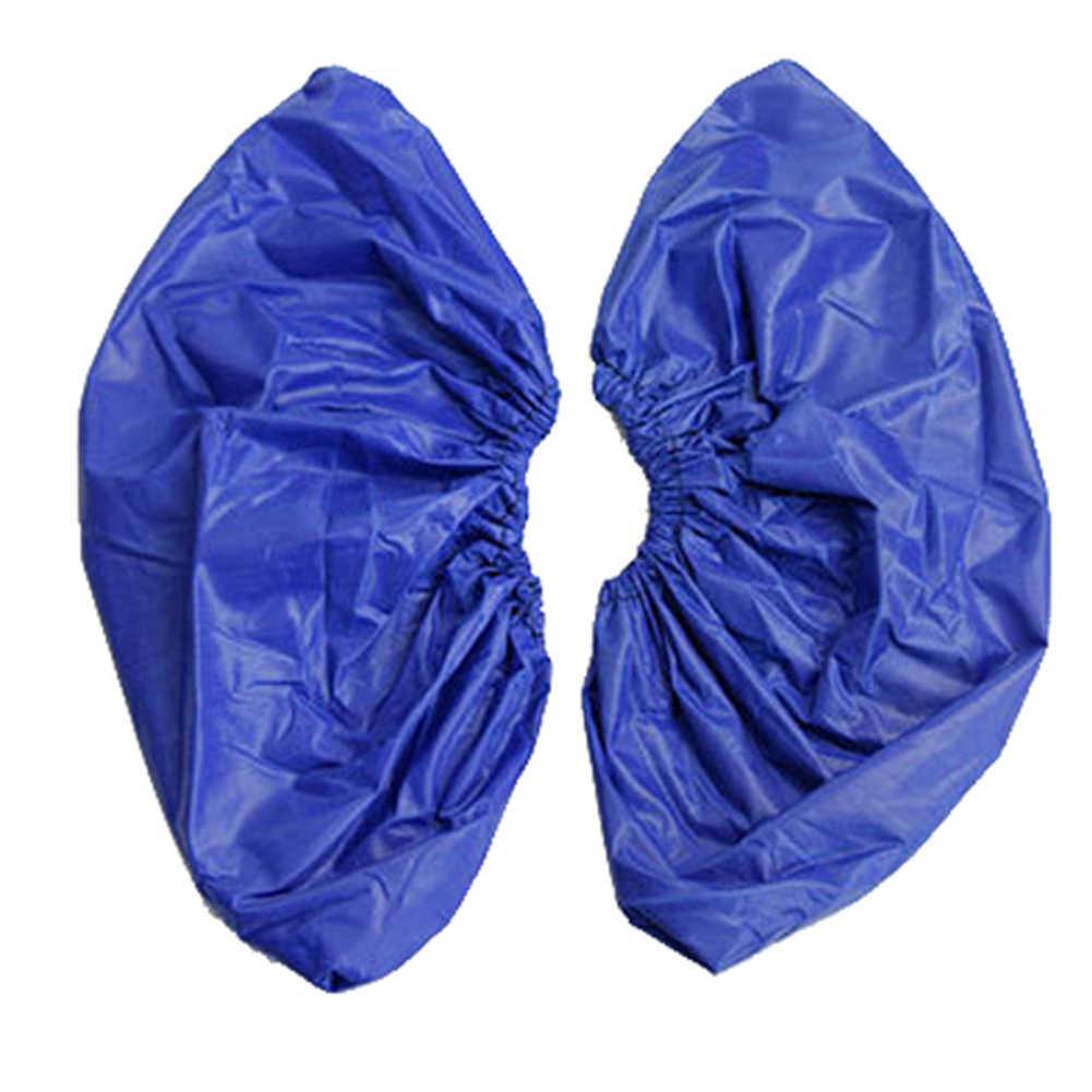 1 par de sapatos reutilizáveis cobre impermeável anti-deslizamento botas de chuva capa engrossar durável poncho overshoes acessórios de sapato impermeável